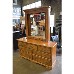 FRENCH PROVINCIAL DRESSER WITH MIRROR AND 7 DRAWERS