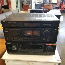 YAMAHA HTR-6040 RECEIVER AND JVC STEREO TURNER