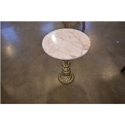 METAL AND MARBLE PARLOUR TABLE