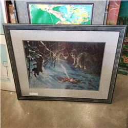 SIGNED WOLF PRINT