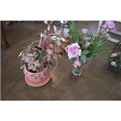 LOT OF FLORALS AND VASES