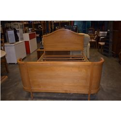 VINTAGE MAPLE DOUBLE SIZE BED FRAME