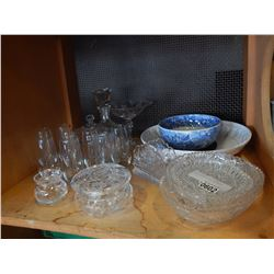 LOT OF CRYSTAL AND GLASSWARE
