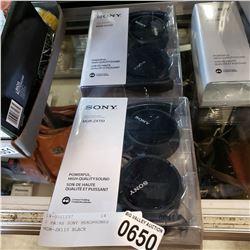 2 PAIRS SONY HEADPHONES MDR-ZX110 BLACK