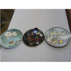 BUTTERFLY SHADOWBOX AND 2 EASTERN COLLECTOR PLATES