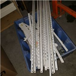 LOT OF METAL SHELVING AND BRACKETS
