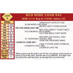 RED WIDE LOAD 942