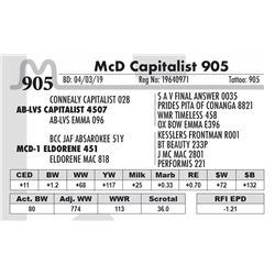 McD Capitalist 905