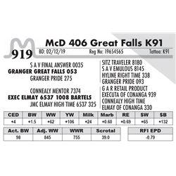 McD 406 Great Falls K91