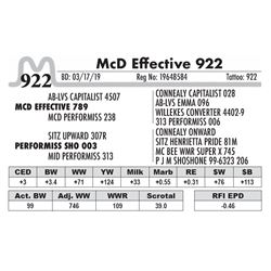 McD Effective 922