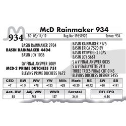 McD Rainmaker 934