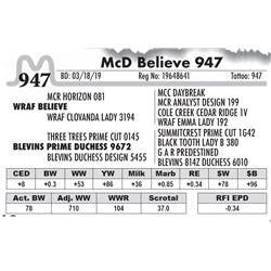 McD Believe 947