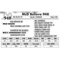 McD Believe 948