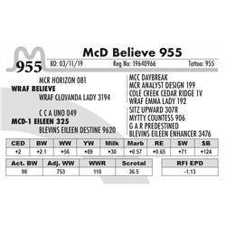 McD Believe 955