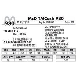 McD TM Cash 980
