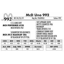 McD Uno 992