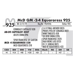 McD GM -2-4 Equaroress 925