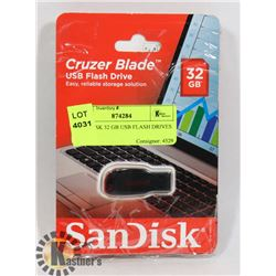 5 SANDISK 32 GB USB FLASH DRIVES