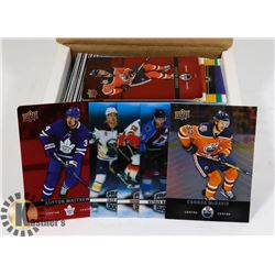 BOX WITH 2019 TIM HORTONS HOCKEY CARDS