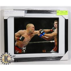 FRAMED GEORGE ST. PIERRE UFC PHOTO.