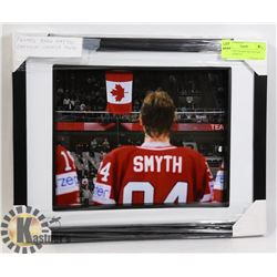FRAMED RYAN SMYTH CAPTAIN CANADA PHOTO.