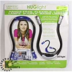 "LED ""HUG"" LIGHT, HANDS FREE FLEXIBLE LIGHT"
