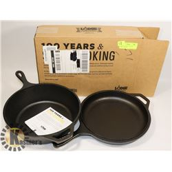 LODGE CAST IRON 3.2 QUART COMBO COOKER