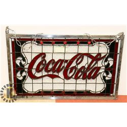 COCA COLA STAINED GLASS SIGN
