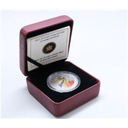 2012 COLOURED EVENING GROSBEAK 25 CENT COIN