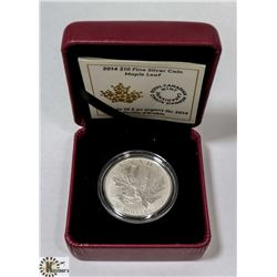 2014 FINE SILVER $10 MAPLE LEAF COIN