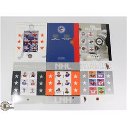 FIRST 6 OF HOCKEY CARDS ON STAMPS 2000-2005.