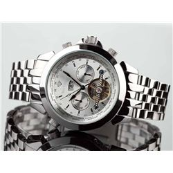 NEW YVES CAMANI WORLD TIMER SILVER DIAL WATCH
