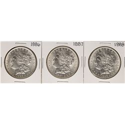 Lot of 1886-1888 $1 Morgan Silver Dollar Coins
