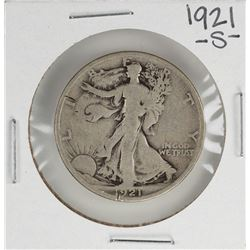 1921-S Walking Liberty Half Dollar Coin
