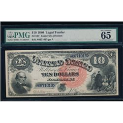 1880 $10 Jackass Legal Tender Note PMG 65