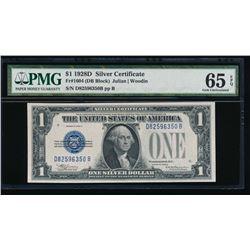 1928D $1 Silver Certificate PMG 65EPQ