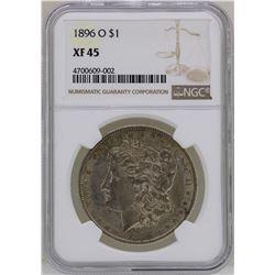 1896-O $1 Morgan Silver Dollar Coin NGC XF45