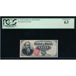 50 Cent Fourth Issue Fractional Note PCGS 63