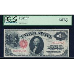 1917 $1 Legal Tender Note PCGS 64PPQ