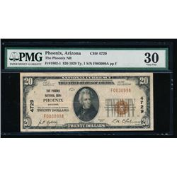 1929 $20 Phoenix National Bank Note PMG 30