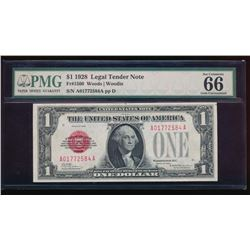 1928 $1 Legal Tender Note PMG 66
