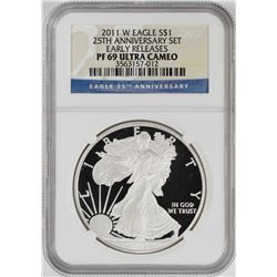2011-W $1 Proof American Silver Eagle Coin NGC PF69 Ultra Cameo Early Releases