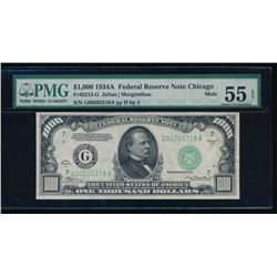 1934A $1000 Chicago Federal Reserve Note PMG 55EPQ