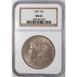 1903 $1 Morgan Silver Dollar Coin NGC MS65