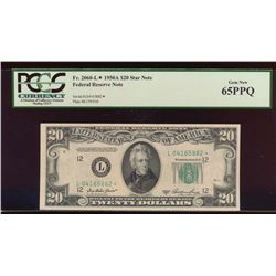 1950A $20 San Francisco Federal Reserve Star Note PCGS 65PPQ
