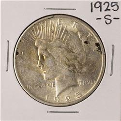 1925-S $1 Peace Silver Dollar Coin