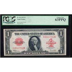 1923 $1 Legal Tender Note PCGS 63PPQ
