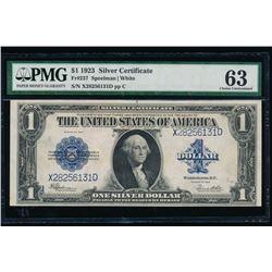 1923 $1 Silver Certificate PMG 63