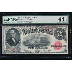 1917 $2 Legal Tender Note PMG 64EPQ
