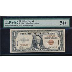 1935A $1 Hawaii Silver Certificate Star Note PMG 50